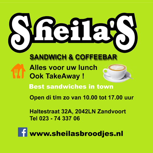 Sheilas Sandwich and Coffeebar - Your Host & Guide in Zandvoort
